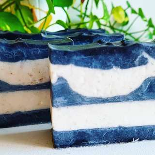 Monochrome waves soap bar (natural handmade soap)