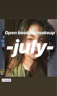 Yuk booking makeup di bulan juli