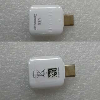 Samsung原廠Type-C OTG轉接頭USB Connector【GH98-40216A】: Galaxy S8, S8+, C9 pro, C7 pro, C5 pro, A7  A5 ( 2017), Note 8
