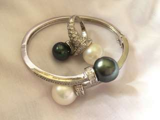 Bangle and ring Southsea pearl