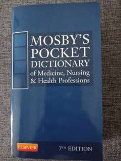 Mosby's Pocket Dictionary (7th edition)