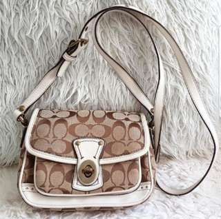 COACH Signature monogram crossbody bag + FREE fabric cleaner!