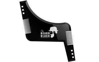[IN-STOCK] The Beard Black Beard shaping & styling tool with inbuilt comb for perfect line up & edging, use with a beard trimmer or razor to style your beard & facial hair