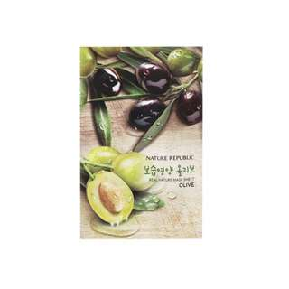 Nature Republic Real Nature Mask Sheet Olive