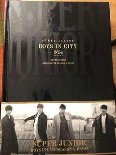 super junior boys in city paris寫真書(連海報post card)