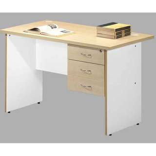 4' Writing Table with Fixed Pedestal
