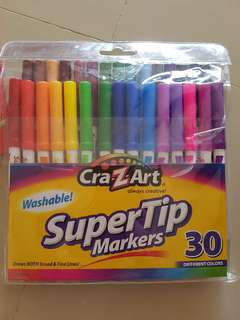Crazart supertip markers 30 colours