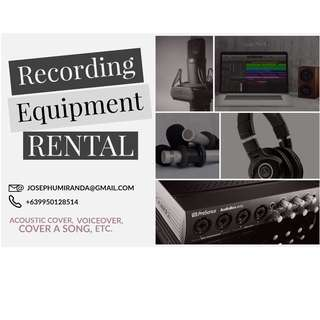 Audio Recording Equipment Rental