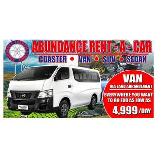 Van for rent