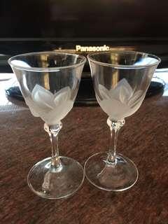 Wine Glasses 精緻酒杯1對,共2隻,$50@,不拆散賣