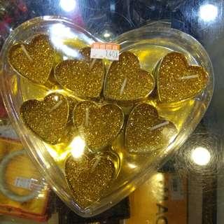 愛心蠟燭八顆140元限來店買點我頭像看店址和上千種商品