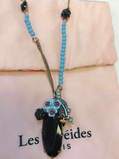 Further markdown !!🈹Les Nereides navy stone necklace
