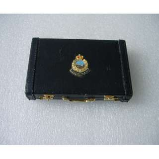 港英時期 皇家香港警察皮盒 Vinatge Little Briefcase with Royal Hong Kong Police Logo