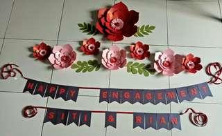 Paperflower dengan bunting acara