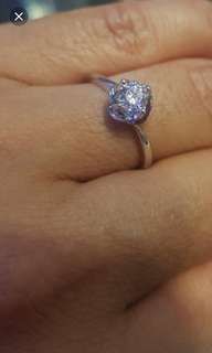 diamond GIA 18k ring