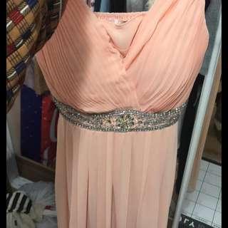 Pink chiffon formal