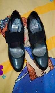 Stuart Weitzman Black Covered Heels