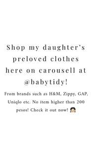 Preloved clothes for girls!