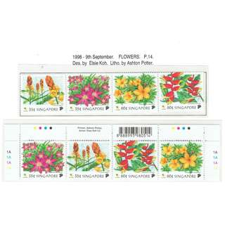 1998 09 Mint Stamps  Flowers 1998