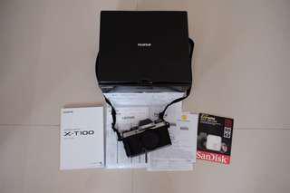 Fujifilm X-T100 XT100 Dark Silver 1x pakai