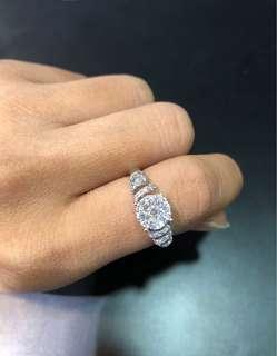 18k白金天然鑽石戒指💍 送禮自用