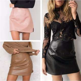 Ren Vintage Leather Skirt