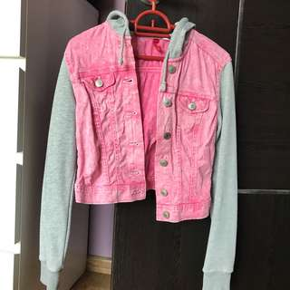 H&M pink denim jacket