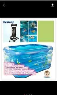 BARU!! Paket Kolam Baby Spa merk INTIME Free Pompa BESTWAY62002 dan Neckring