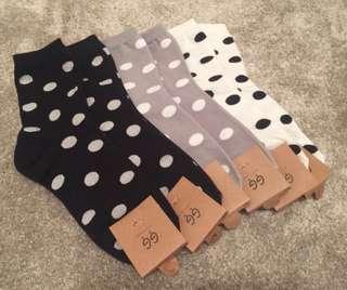 🚚 韓國帶回🇰🇷襪子 全新 點點 韓國製