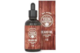 [IN-STOCK] Viking Revolution Beard Oil Conditioner - All Natural Sandalwood Scent with Organic Argan & Jojoba Oils - Softens & Strengthens Beards and Mustaches for Men (Sandalwood, 1 Pack)