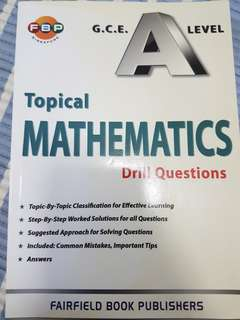 H2 Mathematics topical drill questions with solutions