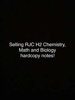 RJC H2 chemistry, biology and math notes
