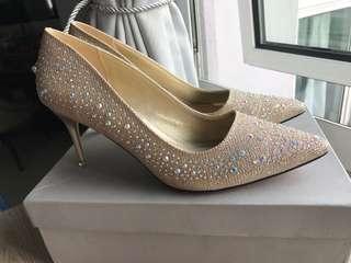 Golden Glittery Heels