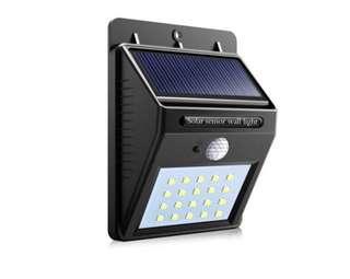 (346) Solar Powered LED Wall light with PIR Motion Sensor