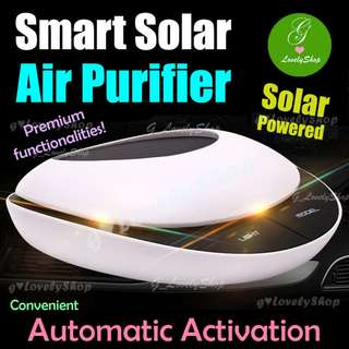 Premium Car/ Small Room Filter - Solar Powered SMART Auto Activation with Aromatherapy