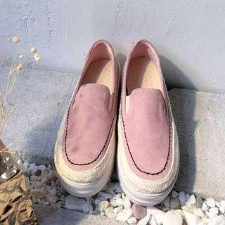 🚚 粉紅厚底鞋24