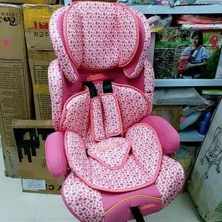 Car seat 兒童汽車安全座椅 (汽車圖案粉紅色)