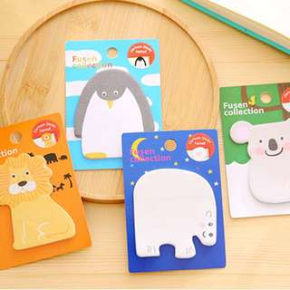 🌟BN INSTOCKS Assorted Adorable Animals Post-Its Sticky Memo Pad