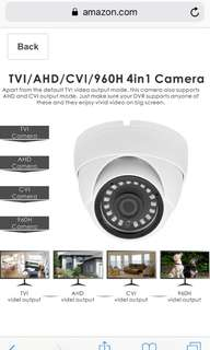 274• Inwerang 1080P TVI/AHD/CVI/960H CVBS 4-in-1 HD Analog Security Camera, 3.6mm Fixed Lens, 49ft Infrared, IP66 Waterproof Dome CCTV Camera for Home Security System