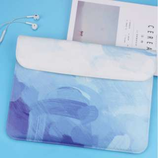 INSTOCK: Abstract Blue Brush Stroke Laptop Macbook Decal