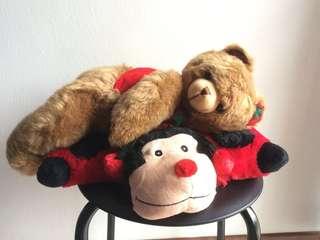 Huggable Bear and Ladybug Pillow