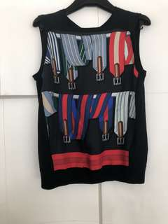 Hermes Sleeveless Silk and Cashmere Top