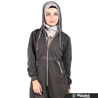 Hijacket Jacket Muslim Wanita Hijab    Misty-Grey Series Size M to L