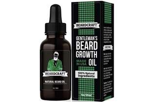 [IN-STOCK] Beardcraft Beard Oil for Men - USA-Made Formula - Natural Unscented Beard Growth Oil for Fuller and Thicker Beard - Best Organic Mustache Conditioner Softener