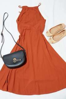 Halter brown dress
