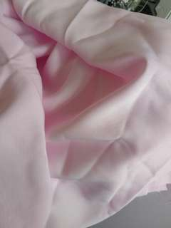 Pink italian silk satin fabric