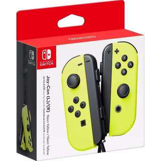 (BNIB) Nintendo Switch Yellow Joy Con