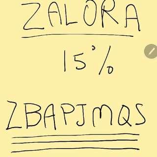 ZALORA VOUCHER PROMO CODE