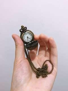 懷舊復古文青懷錶頸鏈