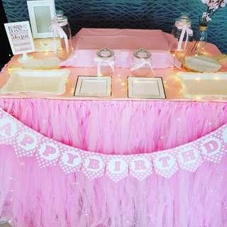 Backdrop & Dessert Table  Setup_Birthday_ROM_Wedding